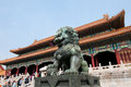 Forbidden city i peking Royaltyfri Bild