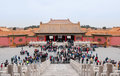 Forbidden city i peking Royaltyfria Bilder