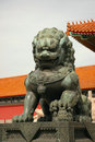 Forbidden city lion. Royalty Free Stock Image
