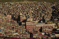 Forbidden city of serta main monastery central and monks houses in eastern tibet Stock Photo
