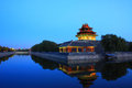 Forbidden city turret the at night Royalty Free Stock Photo