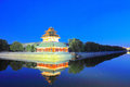 Forbidden city turret the at night Royalty Free Stock Photography