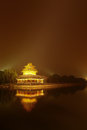 Forbidden city a view of the after sunset beijing china Stock Image