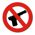 Forbidden guns sign on white Royalty Free Stock Image