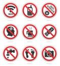 Forbidden icon set