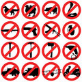 Forbidden Signs Royalty Free Stock Photo