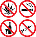 Forbidding  Vector Signs Stock Photos