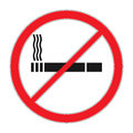 Forbidding vector signs No smoking. Cigarette outline and linear pictogram isolated on white. Cigarette icon. Smoking sign. Toba Royalty Free Stock Photo