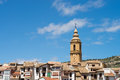 Forcall old town a landmark in inland valencia spain Stock Photo