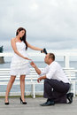 Forced proposal Royalty Free Stock Photo