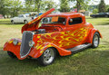 Ford coupe picture of the orange with flames Stock Images