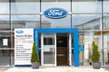Ford dealership in germany with copy space Stock Image