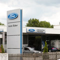 Ford dealership in germany with copy space Royalty Free Stock Photography