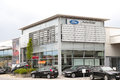 Ford dealership in germany copy space in the sky Stock Photography