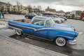 Ford fairlane crown victoria rebuilt to pickup in image is shot at the fish market in halden norway one day in march Stock Photos