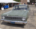 Ford falcon us army car front view iola wi july of at iola st annual show july in iola wisconsin Stock Images