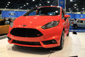 Ford fiesta at auto show new st on display stand miami international Royalty Free Stock Images