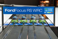Ford Focus RS WRC toy car-racing track. Royalty Free Stock Image