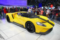 Ford gt ford s supercar at new york international auto show jpg city usa – march the the jacob javits Royalty Free Stock Photos