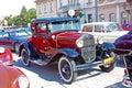 Ford model a deluxe tudor samobor croatia july oldtimer rally in samobor july in samobor croatia Royalty Free Stock Photo