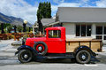 Ford model a pickup glenorchy nz jan an in glenorchy on jan in nz there are more then vintage classic cars in immaculate condition Royalty Free Stock Photos