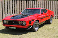 Ford mustang mach rustenburg south africa – september a bright red on display at the half centaury celebration of the rusoord Stock Photography