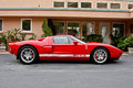 Ford red gt picture taken in carmel california in Royalty Free Stock Photo