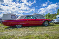 Ford thunderbird t bird classic amcar the image is shot by dawn at the farm in halden norway Stock Photo