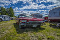Ford thunderbird t bird classic amcar the image is shot by dawn at the farm in halden norway Stock Image