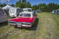 Ford thunderbird t bird classic amcar the image is shot by dawn at the farm in halden norway Stock Photography