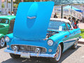Ford thunderbird this is a very nice turquoise blue hardtop with the porthole windows Stock Photos