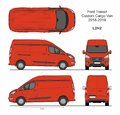 Ford Transit Custom Cargo Panel Van L2H2 2018-2019 Royalty Free Stock Photo