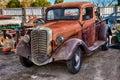 Ford truck salvage yard minatare nebraska Stock Images