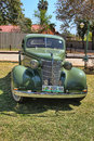 Ford two door coupe with rumble seat front view rustenburg south africa september a green on display at the half century Royalty Free Stock Photography
