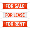 Fore sale for lease and for rent banners vinyl Royalty Free Stock Images