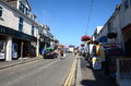 Fore street newquay uk th september colourful houses on in cornwall is situated on the west coast of cornwall and Royalty Free Stock Photography