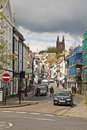 Fore street totnes typical day on in the country town of tones devon england uk Stock Image