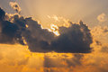 Foreboding Kansas Sunset Royalty Free Stock Photo