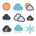 Forecast icon softy color set Stock Image