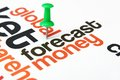 Forecast money concept close up of Stock Image