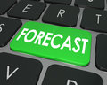 Forecast Word Computer Keyboard Button Future Finance Budget Est Royalty Free Stock Photo