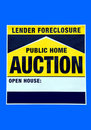 Foreclosure home sign Royalty Free Stock Photography
