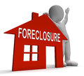 Foreclosure house shows repossession and sale by lender showing Stock Photography