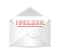 Foreclosure mail illustration design over white a background Stock Photo
