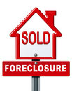 Foreclosure sold sign Stock Images