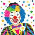Foreground clown