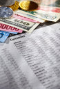 Foreign exchange sheet Stock Image