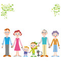 Foreign family of the good friend third generation tying a hand outside Stock Image