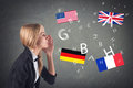 Foreign language concept learning speaking this image has attached release Stock Photo