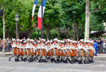Foreign Legion at a military parade in Republic Da Royalty Free Stock Photo